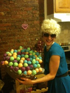Jen and her chesse cake balls.
